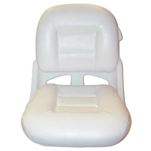 Tempress Elite Fisherman's Armless Low Back Helm Seat, White