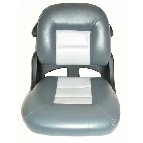 Tempress Elite Fisherman's Armless Low Back Helm Seat, Charcoal/Gray