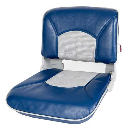 Tempress Profile Guide Series Boat Seat & Cushion Combo - Blue / Gray, 18H x19W x 19D
