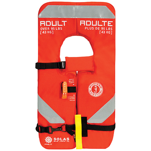 Mustang Survival Type I 4-One SOLAS Life Jacket, Adult