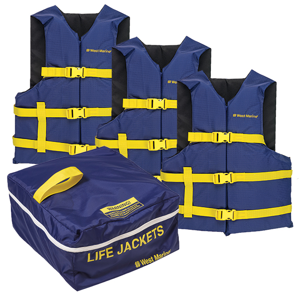 Runabout Life Jacket PFD 3 Pack