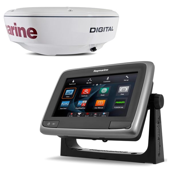 Raymarine a78 Display with CHIRP/RD418D Digital Radome Value Pack, Non-WiFi