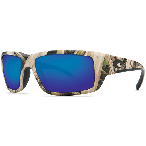 Costa Fantail Sunglasses, Realtree Camo Frames with Mossy Oak/blue 400G Glass Lenses