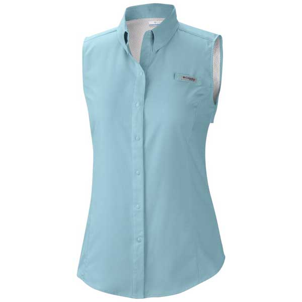 Columbia women 39 s pfg tamiami sleeveless shirt west marine Columbia womens fishing shirt