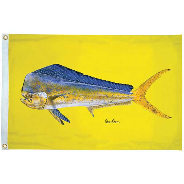 Carey Chen Offshore Fish Flags, Dolphin