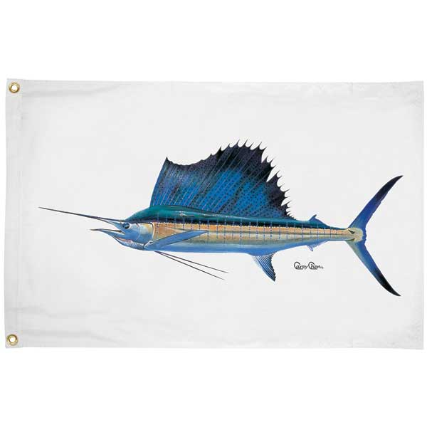 Carey Chen Offshore Fish Flags, Sailfish