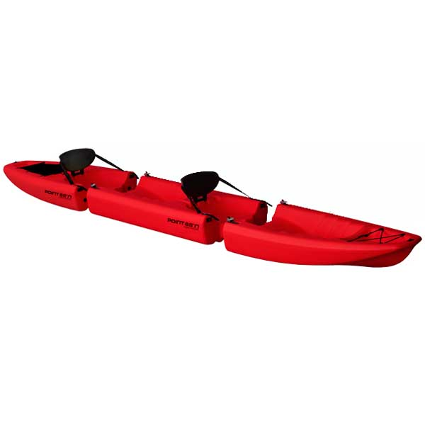 Point 65 Apollo Tandem Modular Sit-On-Top Kayak, Red