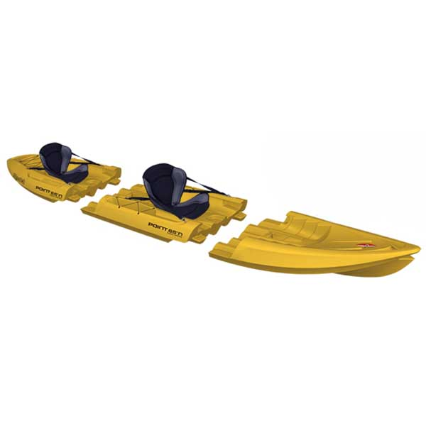 Point 65 Tequila! GTX Tandem Modular Sit-On-Top Kayak, Yellow