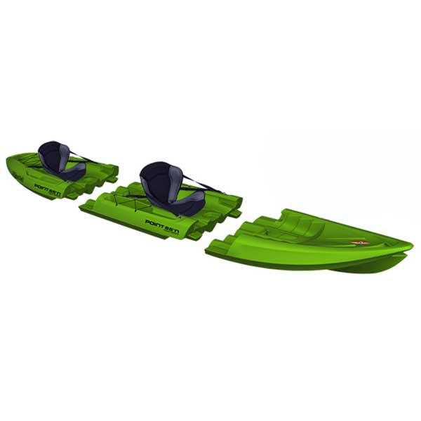 Point 65 Tequila! GTX Tandem Modular Sit-On-Top Kayak, Lime Green