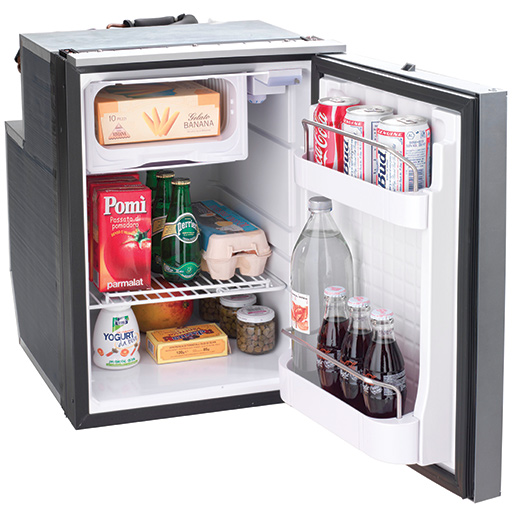 Isotherm Cruise 49 Elegance Refrigerator, AC/DC, Silver