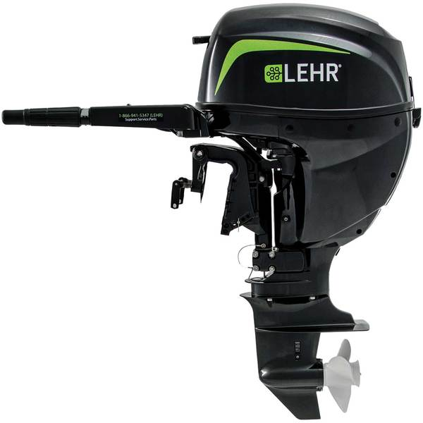 LEHR 15hp Propane Powered Outboard Engine, Short Shaft, Internal Electric Start