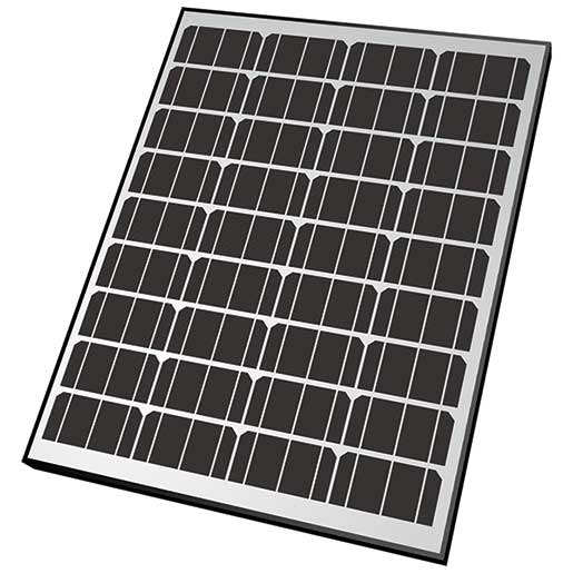 Nature Power Rigid Monocrystalline Solar Panel, 85W, 12V