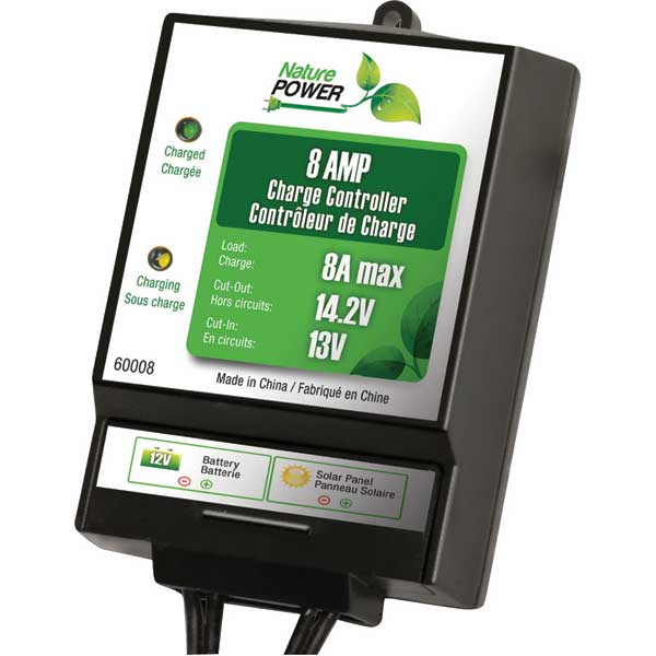 Nature Power 8 Amp Charge Controller, Dim 5 x 4 x 1 1/2, 120W/8A Sale $19.99 SKU: 14996391 ID# 60008 UPC# 839290006030 :