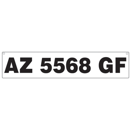 Hardline Products Registration Number Plates for Inflatable Boats Sale $14.99 SKU: 14996565 ID# 1155934 UPC# 632194115064 :