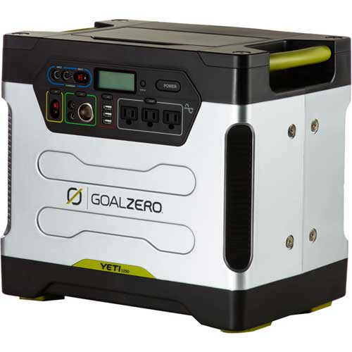 Goal Zero Yeti 1250 Solar Generator Kit Sale $1799.99 SKU: 15002371 ID# 39004 UPC# 847974000526 :