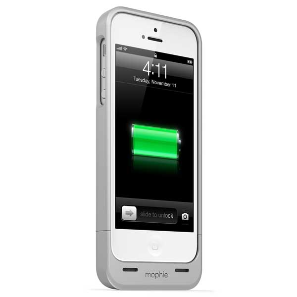Mophie Juice Pack Helium Battery Case for iPhone 5, Silver