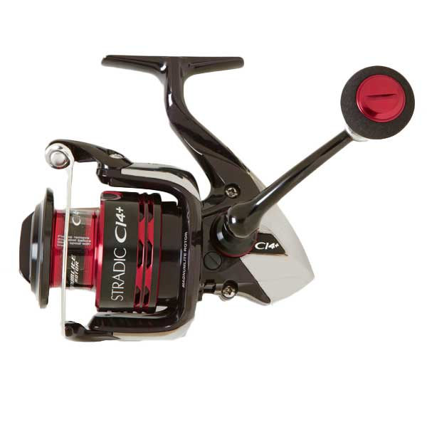 Shimano Stradic CI4 4000FA Spinning Reel, Retrieve 37, Max Drag 20 lbs., 6BB, 1RB, 5.8:1GR, 9 oz.