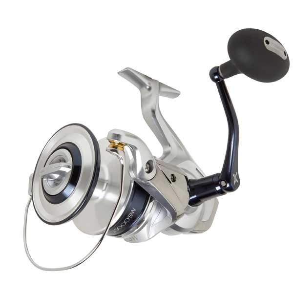 click for Full Info on this Shimano Saragosa 8000f Sw Spinning Reel  Retrieve 42''  Max Drag 27 Lbs.  5bb  1rb  5.7:1gr  24.3 Oz.