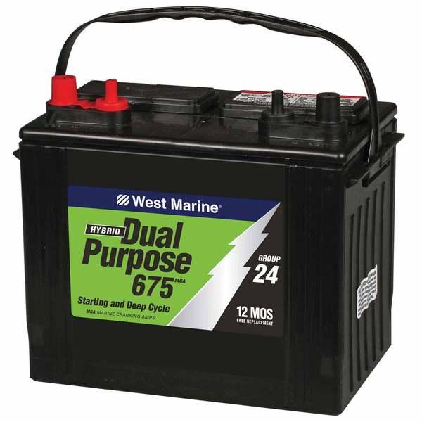 west marine dual purpose flooded marine battery  675 mca