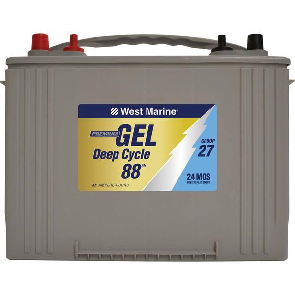 west marine gel deep cycle marine gel battery 88 amp hours group 27 west marine. Black Bedroom Furniture Sets. Home Design Ideas