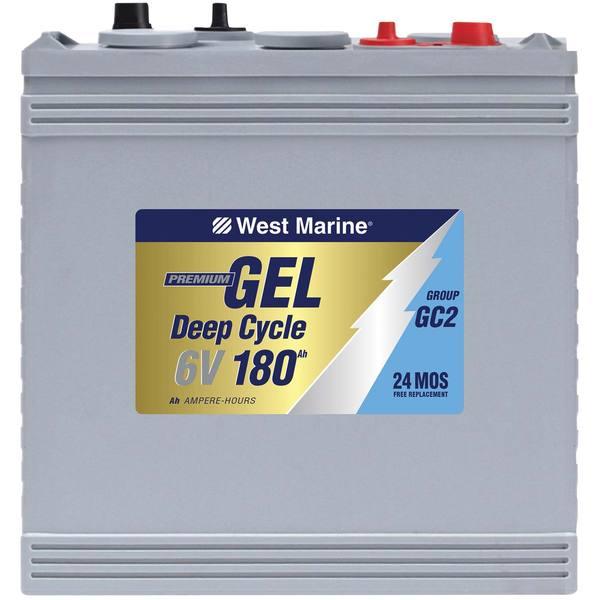 west marine gel deep cycle marine gel battery 180 amp hours group 6v west marine. Black Bedroom Furniture Sets. Home Design Ideas