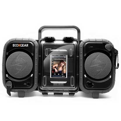 Ecoxgear EcoTerra Waterproof Boombox—Black Sale $149.99 SKU: 15020969 ID# GDI-AQ2SI61 UPC# 819127010027 :