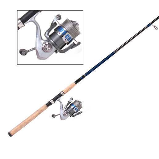 Gotcha GC4070 Spin Combo with SZ40 Metal Reel, Braid Pro Line, 7'
