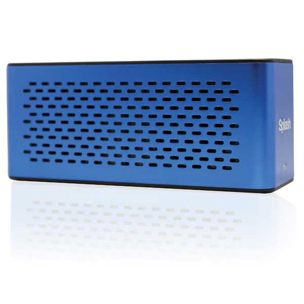 Splash Water-Resistant Hi-Fi Speaker—Blue