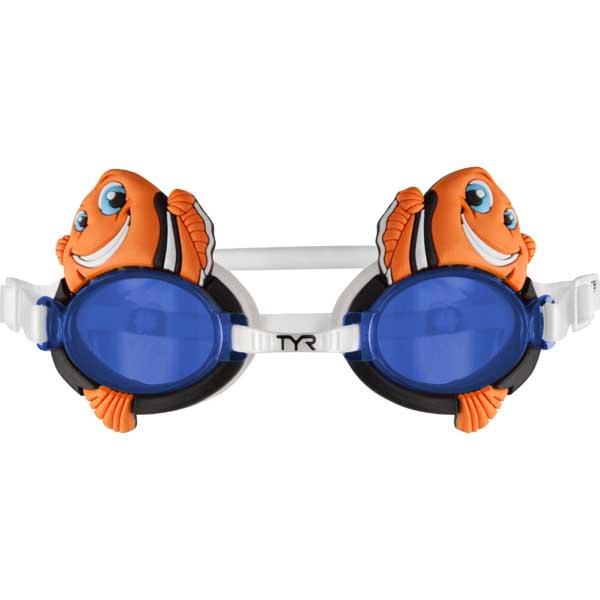 Tyr Sport Inc Kid's CharacTYR Happy Fish Goggles Sale $9.99 SKU: 15042658 ID# LGQHFSH-810 UPC# 36702343190 :