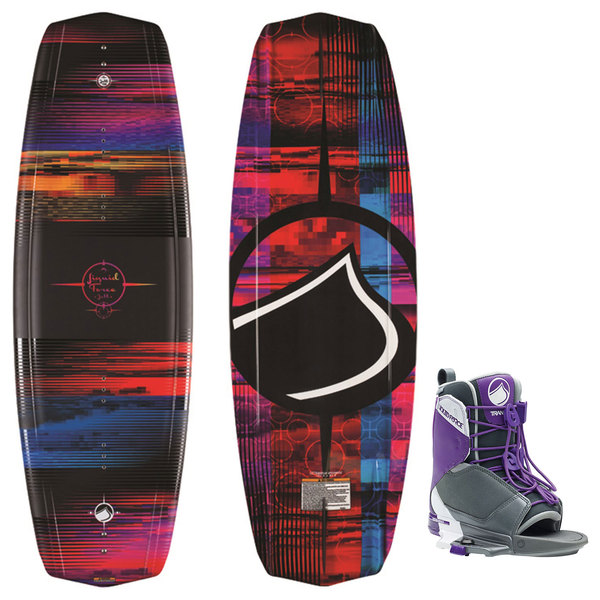 Liquid Force Jett Wakeboard with Transit Bindings, 136CM