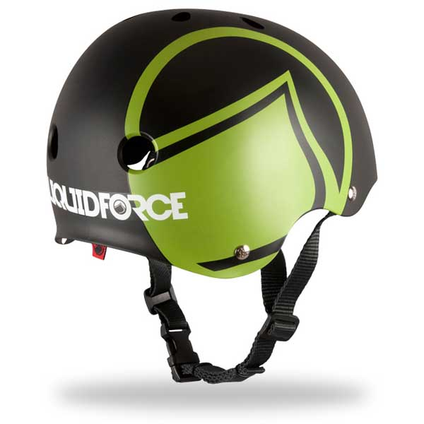 Liquid Force Youth Icon Helmet, Black/Green Small