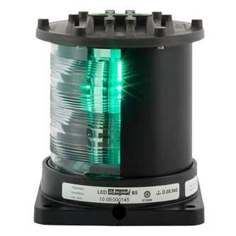 Aqua Signal Series 65 Navigation Light, Starboard, Black, 115/230V