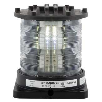 Aqua Signal Series 65 Navigation Light, Masthead, Black, 115/230V