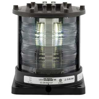 Aqua Signal Series 65 Navigation Light, Stern, Black, 115/230V