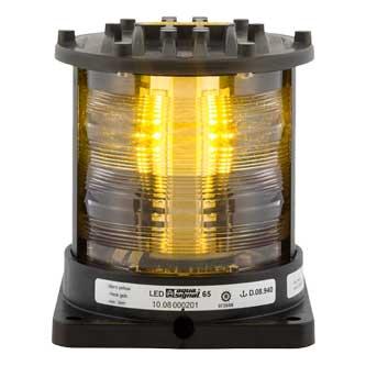 Aqua Signal Series 65 Navigation Light, Stern, Yellow, 115/230V