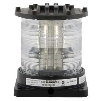 Aqua Signal Series 65 Navigation Light, All/Round, White