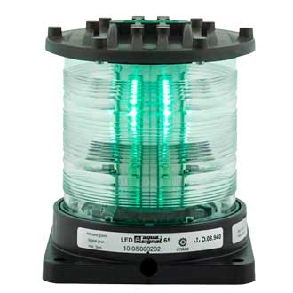 Aqua Signal Series 65 Navigation Light, All/Round, Green Sale $1399.99 SKU: 15043839 ID# 3660105000 UPC# 54628856815 :