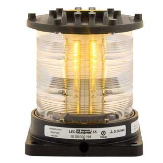 Aqua Signal Series 65 Navigation Light, All/Round, Yellow