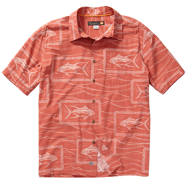 Men's Paliea Point Short-Sleeve Shirt, Guava, M
