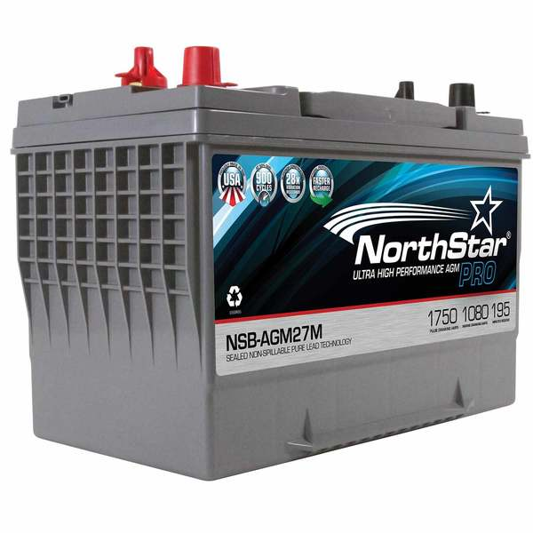 Northstar Battery Thin Plate Pure Lead AGM Battery—Group 27