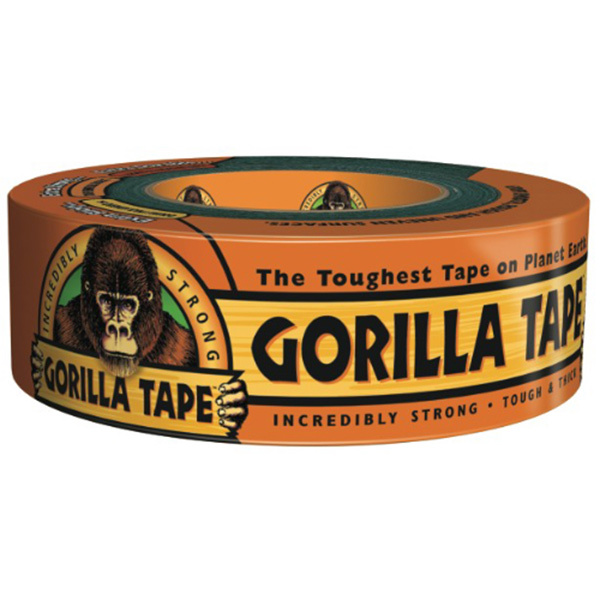 Gorilla Glue Gorilla Duct Tape, 1 7/8 x 12yd., Black