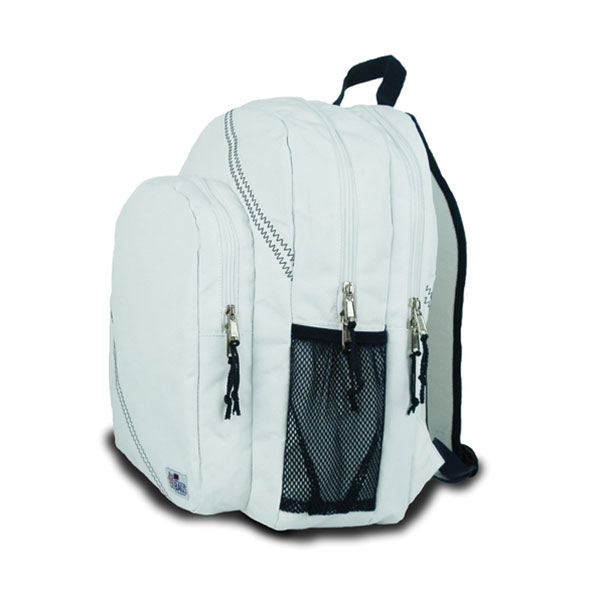 Sailor Bags Sailcloth Backpack, White White/navy