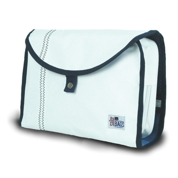 Sailor Bags Sailcloth Hanging Toiletries Kit White