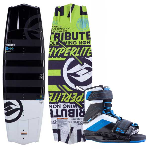 Tribute 142cm Wakeboard Combo with 10-14 Focus Wakeboard Boots