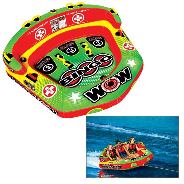 Wow Sports Bingo 1-3 Person Cockpit Towable Tube