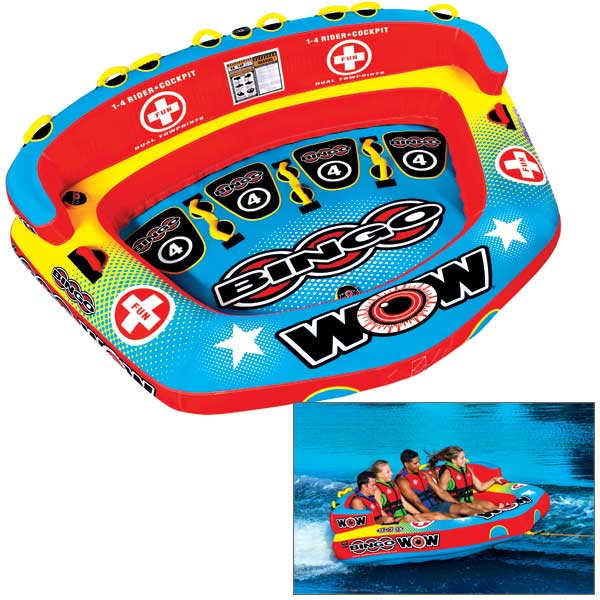 Wow Sports Bingo 1-4 Person Cockpit Towable Tube