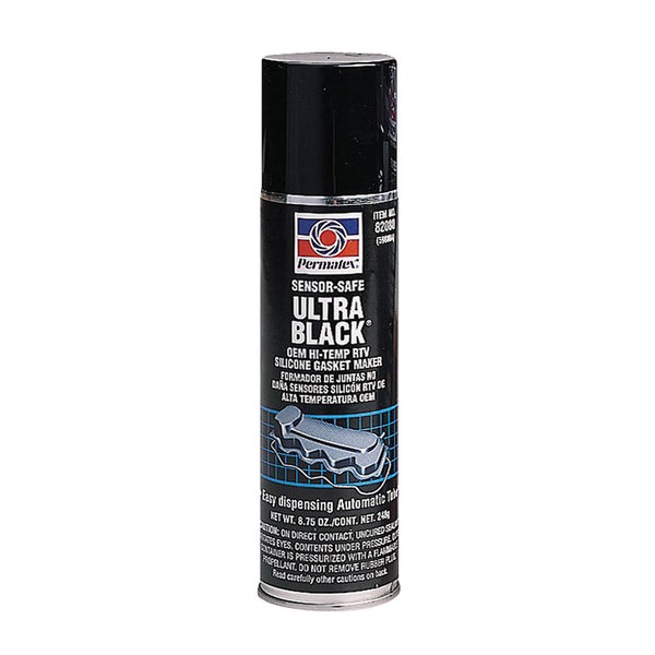 Permatex Ultra Black Oil Resistant RTV Silicone Gasket Spray, 8oz.