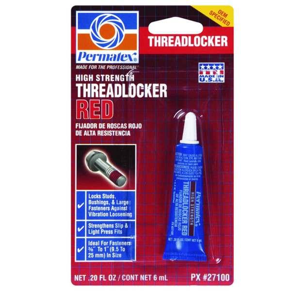 Permatex High Strength Threadlocker Red Gel Squeeze, 20oz
