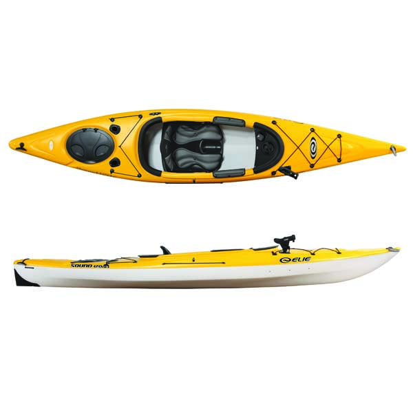 Pelican 12' Sound 120XE Sit-Inside Angler Kayak, Yellow/White