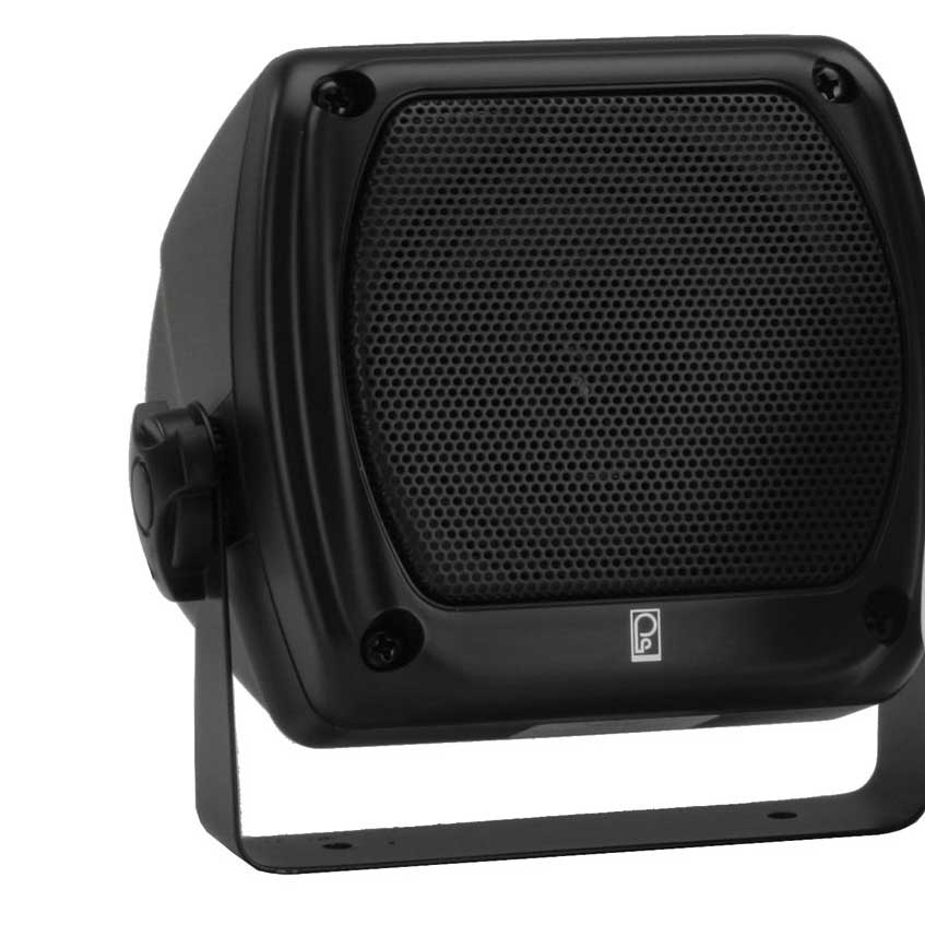 Poly-planar Subcompact Box Speaker, Black